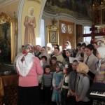 Воскресная школа славит Христа